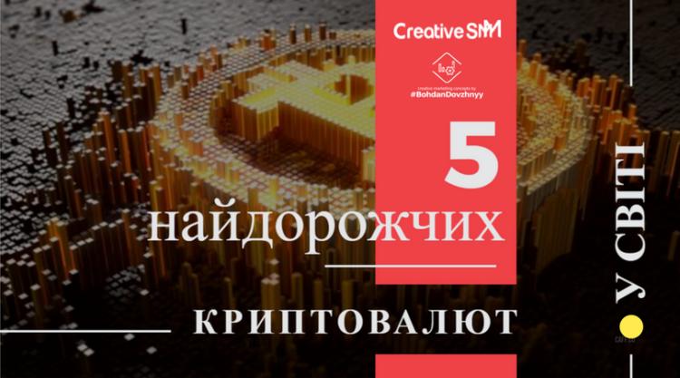 5 найдорожчих криптовалют у світі